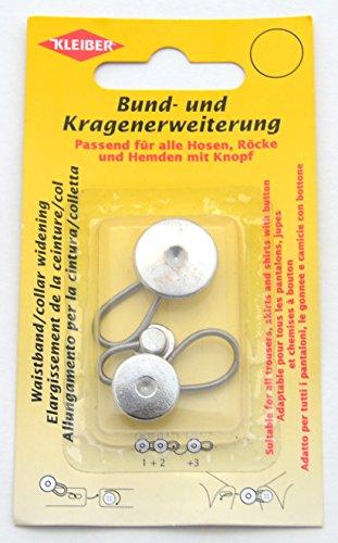 Kleiber Bund- und Kragenerweiterung aus Zinklegierung, 3-er Set