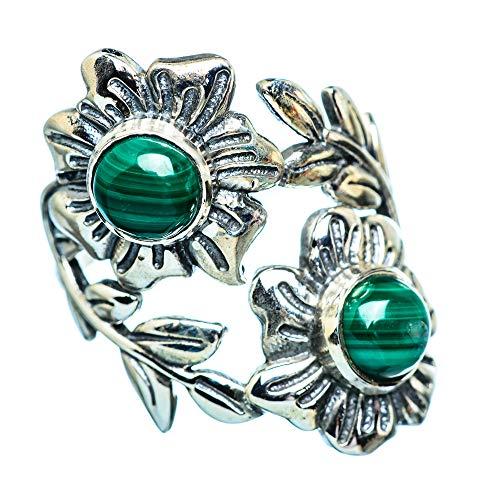 Malachite, Malachit 925 Sterling Silber Ring 8.25 (Ana Silver Co Ringe)