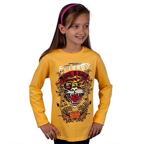 Ed Hardy Mädchen T-Shirt Gelb Gelb