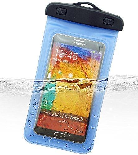 Dolder Square Shape wasserdichte Handyhülle Tasche Beutel Unterwasser tasche für5.2~6.2 zoll Smartphone wie iphone X/8 plus/7Plus/Samsung Galaxy S9/S8 plus/S7 Edge/note 8, Huawei Mate 10 pro/Mate 9/ huawei P20/ P10 plus/ P9 plus,Honor 9, usw. in blau (Samsung Tablet Zip Etui)