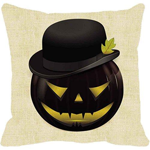 JIANGFU Halloween Kürbis Kissenbezug,Halloween Kürbis Quadrat Kissenbezug Kissenbezug Kissenbezug Reißverschluss (D) (Beängstigend Reißverschluss Kostüm)