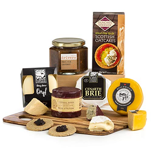 The Complete British Cheese Board w Chutney & Crackers Hamper Gift Box - FREE UK Delivery