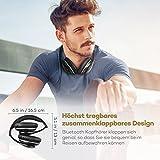 TaoTronics Bluetooth Kopfhörer Over Ear Headset mit leichtem Rückstellschaum Ohrpolster & Dual 40mm Treiber, 15 Stunden Spielzeit, EQ Bass, 3,5 mm AUX, On-Ear Steuerung - 6