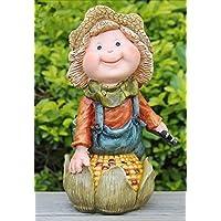 Gnome chica con maceta jardín decoración 30 cm alto, XL