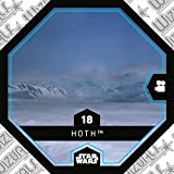 Rewe STAR WARS Cosmic Shells Normal 18 Hoth + WIZUALS STICKER