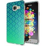 Samsung Galaxy A3 2016 Coque Protection de NICA, Housse Motif Silicone Portable Premium Case Cover Transparente, Ultra-Fine Souple Gel Slim Bumper Etui pour A3-16, Designs:Pattern Vert