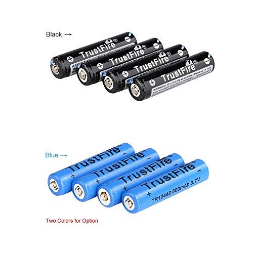 ozuzu (TM) 4AAA 10440600mAh 3,7V Trustfire wiederaufladbarer Lithium-Ionen-Akku (Aaa-batterien Lithium-ionen)