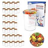 MamboCat 50er 435 ml Sturzglas-Set   Einmachgläser + Twist-Off-Deckel Obst Gelbe Birne + Gratis Rezeptheft   einkochen & konservieren   backofengeeignet