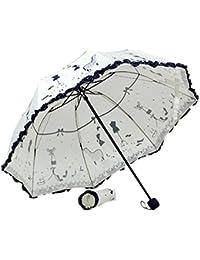 FAMILIZO Volante plegable hojas de loto princesa Cúpula Sombrilla Sun / paraguas de la lluvia