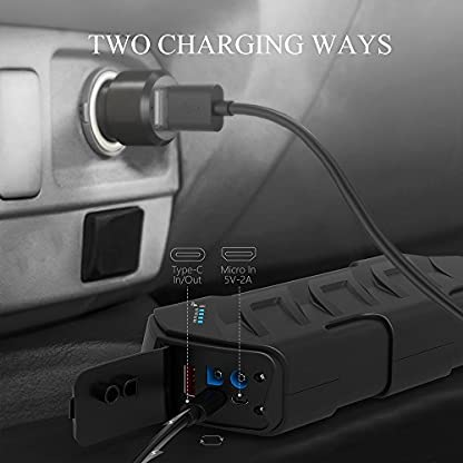 510FZJL10DL. SS416  - CYCMIA 600A Peak 15000mAh Car Jump starter Auto Battery (Up to 6.0L Gas or 4.0 Diesel Engines) High capacity Portable Charger phone Power bank with Multiple Protected Smart Clamp