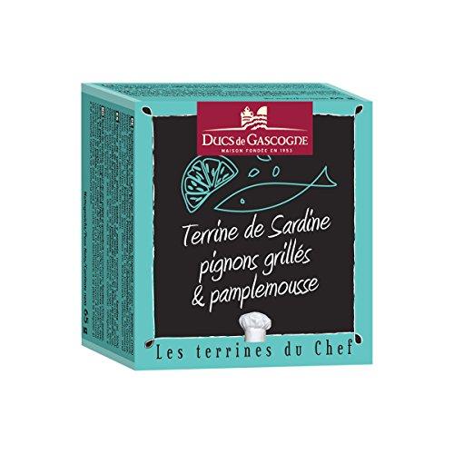 Ducs de Gascogne - Terrine de Sardine, pignons grillés et pamplemousse 65g