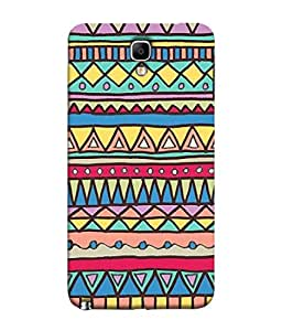Samsung Galaxy Note 3 Neo, Samsung Galaxy Note 3 Neo Duos, Samsung Galaxy Note 3 Neo 3G N750, Samsung Galaxy Note 3 Neo Lte+ N7505, Samsung Galaxy Note 3 Neo Dual Sim N7502 Back Cover Tribal Seamless Colorful Geometric Pattern Ethnic Striped Vector Texturetraditional Ornament Design From FUSON