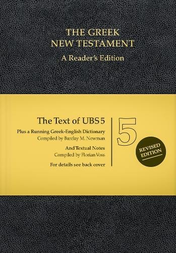 UBS5 Greek New Testament: A Reader's Edition