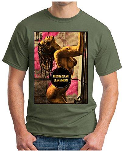 OM3 - SEXY-SHOWER - T-Shirt GEEK, S - 5XL Oliv