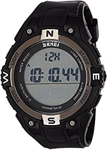 Craffords India Water Proof Digital Watch with Pedometer Functions in Black Dial for Men and Women Unisex