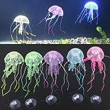 Kuenstlich Quallen Jellyfish Aquarium Dekoration Deko Fisch Tank Glowing Effect