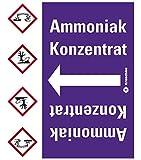 LEMAX® Rohrleitungsband Ammoniak Konzentrat,praxisbewährt,ab Ø 50mm,violett/weiß,33m/Rolle