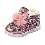 Kinder Baby Mädchen Schuhe Sneaker mit Kaninchen Ohren Anti Rutsch Freizeitschuhe mit Strass XXYsm Rosa 27 EU/4-4.5 Jahre