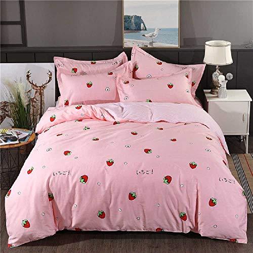 CHINCI GUO Baumwolle, Vier Stück Baumwolle s Suite Single 1,5 - Meter - 1,8 m Betten Süße Erdbeere - Echo Design-bettwäsche-bettdecken