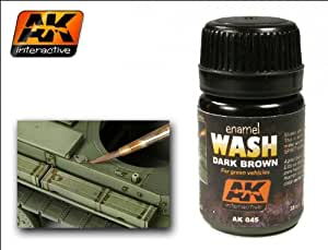 AK Interactive - Enamel Wash: Dark Brown for Green Vehicles - AK00045