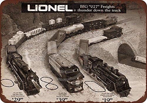 Harvesthouse 1971 Lionel Electric Trains Reproduction Metal Sign 8 x 12 by