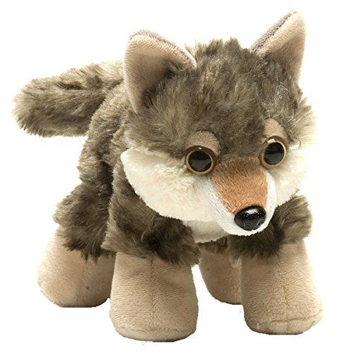 Wild Republic Hug'ems Plüschtier, Kuscheltier, Wolf 18cm