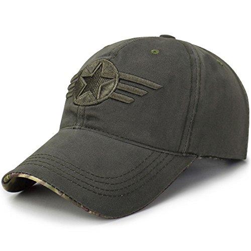 Broad & profound Baseball Cap - Unisex Mütze, Kappe für Herren und Damen, einfarbige Basecap Baseball - Cap Baumwolle Gap,militär - grün
