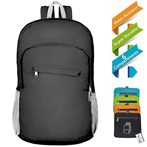 Imagen de 20l ultra ligero empaquetado  de excursión impermeable daypack  de viaje plegable con anti tirón tejido de alta densidad de nylon para picnic al aire libre de deportes de trekking de compras por soooec