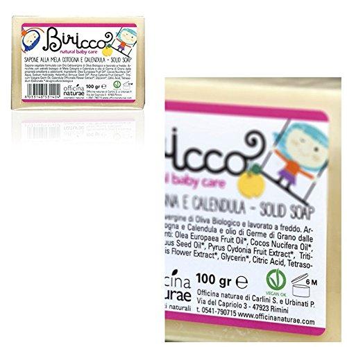 sapone-alla-mela-cotogna-e-calendula-per-neonato-biricco-officina-naturae-100-gr