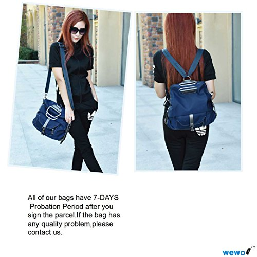 Wewod 1566, Borsa a zainetto donna blu 11.81(Length)*3.94(Width)*13.78(Height) inches blu