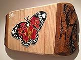 """Quadro romantico a farfalla """"Hidden Hearts"""" dipinto a mano Spraypainted su legno 28 x 15 cm, regalo ideale - da vincitore del capannone dell'anno ..."""