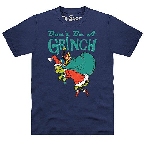 Official The Grinch Don't Be A Grinch T-Shirt, Herren Dunkelblau