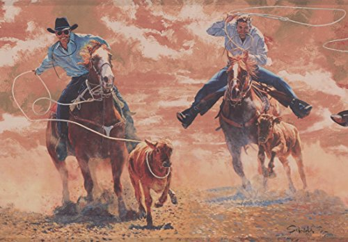 York Wallcoverings Roll-Jäger mit Lasso Seil Bull Vintage Wallpaper Border Retro-Design, 15' x 10,25 '' (Vintage Bull)