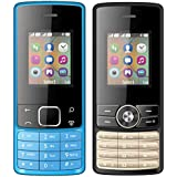 I KALL 1.8 Inch (4.57 Cm) Dual Sim Feature Phone Combo - K20 (Blue) And K24 (Black)