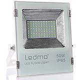 LEDMO Foco LED 50W Foco Proyector , 2835 4950LM Super brillante Foco Led , Blanco de fundición a presión shell, 6000K,focos led exterior,IP65 exterior Impermeable Floodlight led