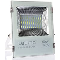 Faretto Led esterno bianco 5000LM con ultra-luminoso faro led esterno 50W 6000k SMD2835 impermeabile IP65 LEDMO faretti led esterno per giardino AC200-240V