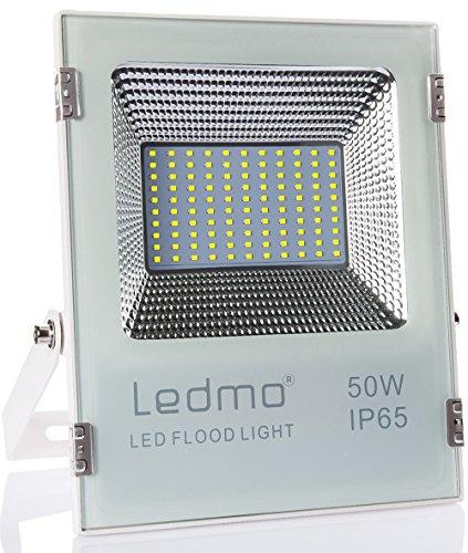LEDMO 50W led strahler außen kaltweiss 6000k led fluter aussen 4500LM superhell außenstrahler IP65 wasserdicht led scheinwerfer - Intensität Uv-lampe Die