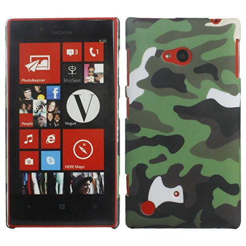 Heartly Army Style Retro Color Armor Hybrid Hard Bumper Back Case Cover For Nokia 720 Lumia RM-885 - Army Green