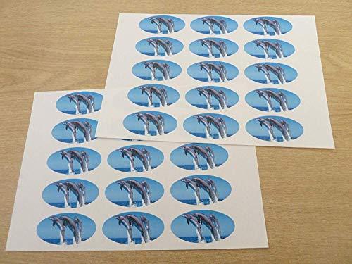 n 51x25mm Ovale Siegel Etiketten,Aufkleber Dekoration,Geschenke Geschenke,Umschläge,Taschen oder Karten ()