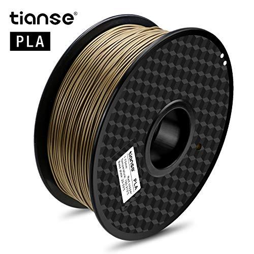 TIANSE Filamento de PLA para la impresora 3D / Pluma 3d, 1 kg 1,75 mm(Cobre)