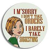 Dorothy Spring I 'm Sorry I Don 't Take Bestellungen I kaum Take Anregungen Sarkastisch Retro Glänzend Hochwertige Untersetzer aus Holz