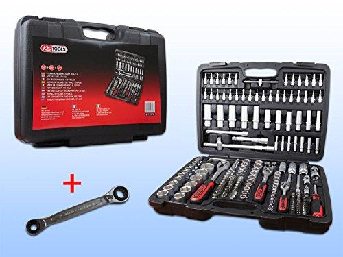Preisvergleich Produktbild KS TOOLS 9170779 Steckschlüssel-Satz 179 teilig + Doppel-Ratschenringschlüssel