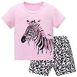 Hugbug Mädchen Schlafanzug Kurz mit Zebra 3 Jahre