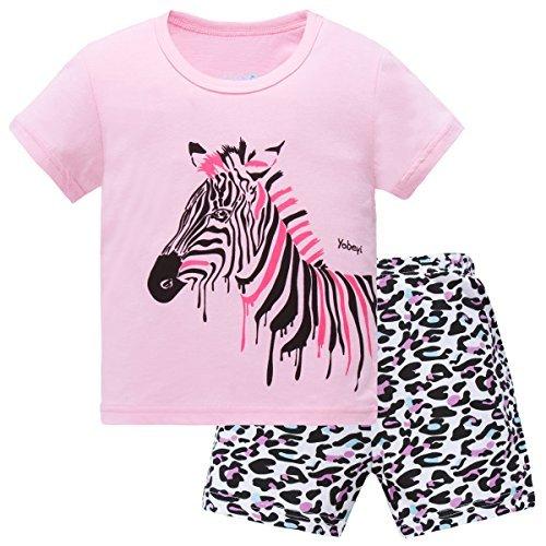 Hugbug Mädchen Schlafanzug Kurz mit Zebra 3 Jahre (Schlafanzug Für Kids)