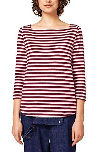 edc by Esprit T-Shirt à Manches Longues Femme Rouge (Bordeaux Red 5 604)