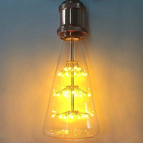 Lampadina Edison, xinrong Vecchio Stile Vintage Decorativo Lampadina 220V Cielo stellato Triangolo a forma di bottiglia di 3W LED Lamp antico.2200K luce bianca calda