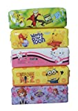 #5: SR GIFTS Pack Of 6 Cartoon Printed Pen Pencil Pouch For Kids Birthday Party Return Gift