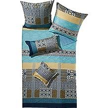 Bassetti Reversible cama satén, azul, 135 x 200 cm - 80 x 80 cm