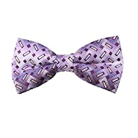 DBD7B35D Purple Patterned Microfiber Males Bow Tie Gift Certificate Fashion Pre-tied Bow Tie By Dan Smith