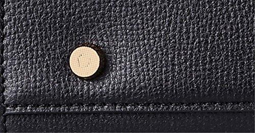 Xinmaoyuan Borse donna Ms. sezione trasversale del pacchetto Platinum di vacchetta colore solido borsetta grande pacchetto di capacità,Nero Nero